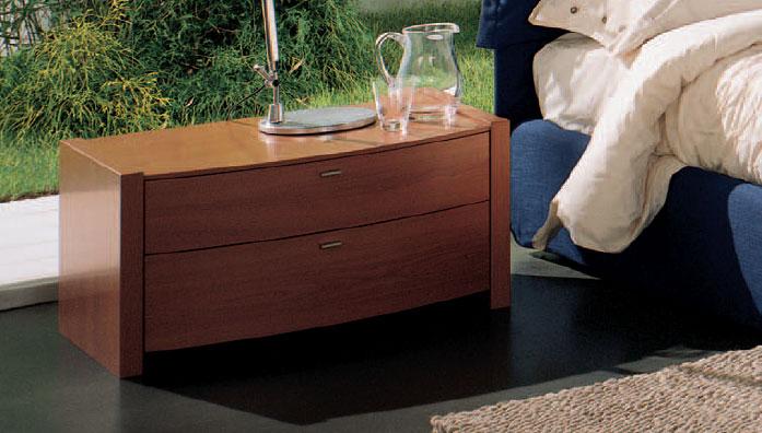 Table de chevet Spalla 40 Curvo 2 tiroirs