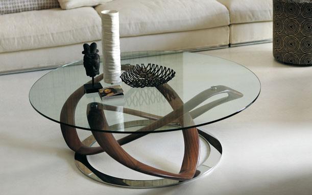 Table basse de salon ronde en verre - Table de salon ronde en verre ...
