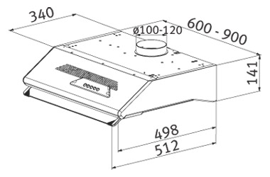 aba5a35e68e5d3 Franke Target Sottopensile FTF 604 XS - Under Cabinet Range Hood