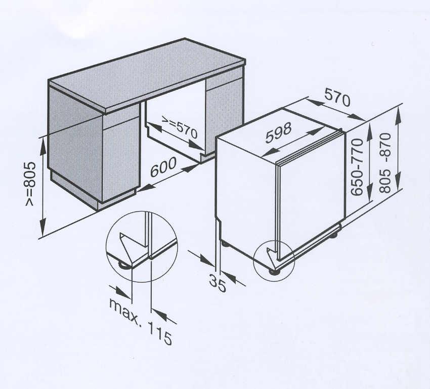 Beliebt Miele G 1173 VI - Spülmaschine - Eingebaut AM38