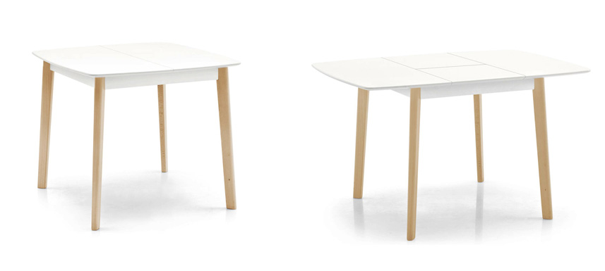 Calligaris cream table cs 4063 q table for Tavolo cream calligaris